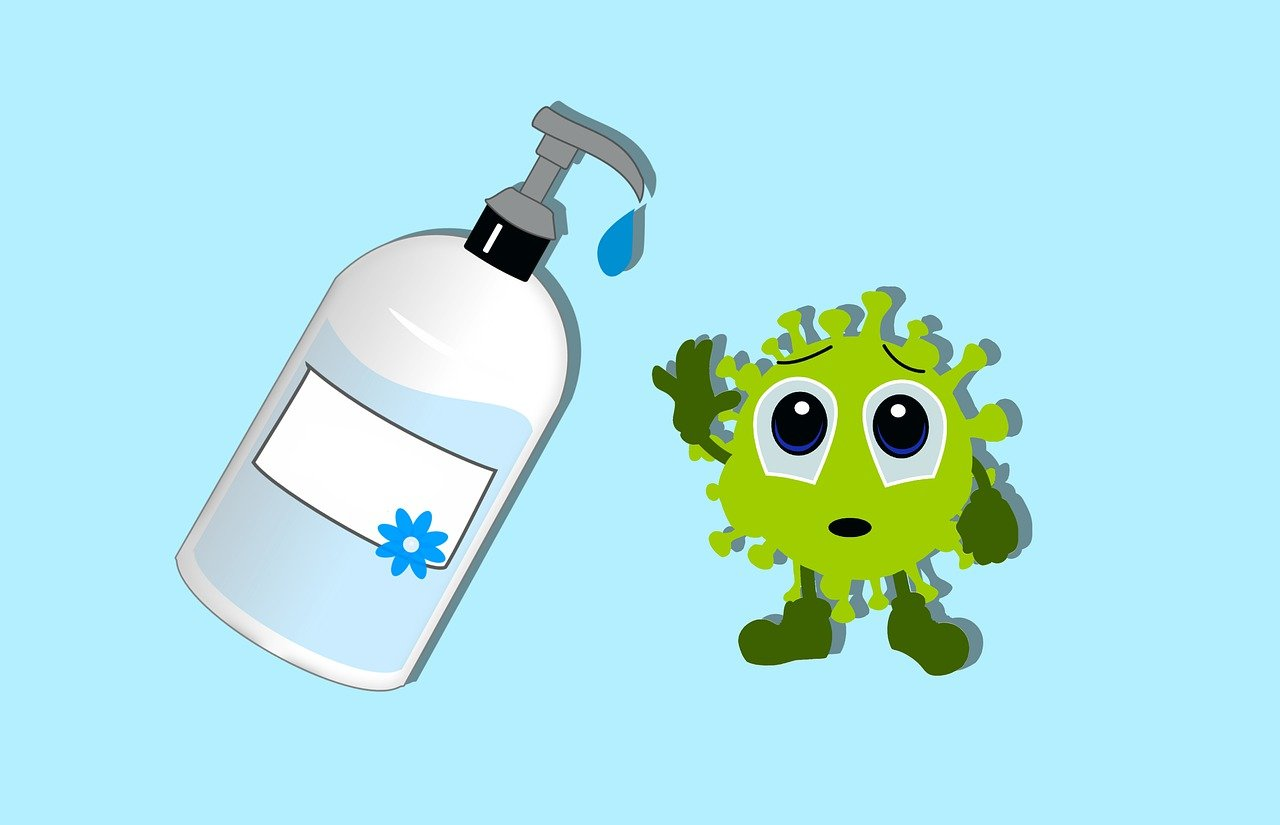 coronavirus, virus, sanitizer